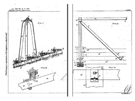 Figure 2.  Leitch's patent for crush barriers for his terraces, used across all his grounds until 1989.