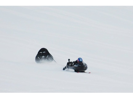 Figure 5.  Guy Martin's world record toboggan run: 134.268 kph (84.49 mph).