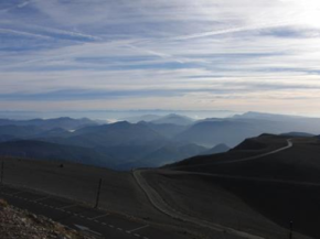 Stunning views in the morning at Mont Ventoux - outlook is positive (Photo Christina King)