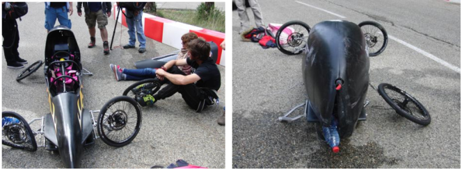 "The aftermath of the crash — ""best crash of the year"" Guy Martin (Photos Christina King)"
