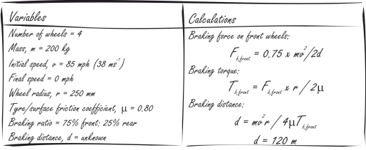 braking calculations