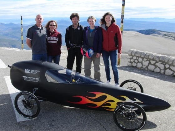 The Sports Engineering team with Guy Martin
